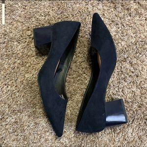 Zara navy block heel size 9
